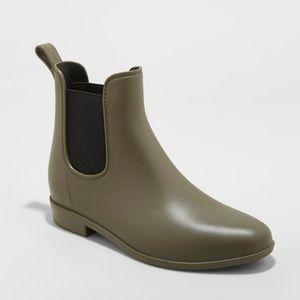 Merona | Olive Green Chelsea Rain Boots